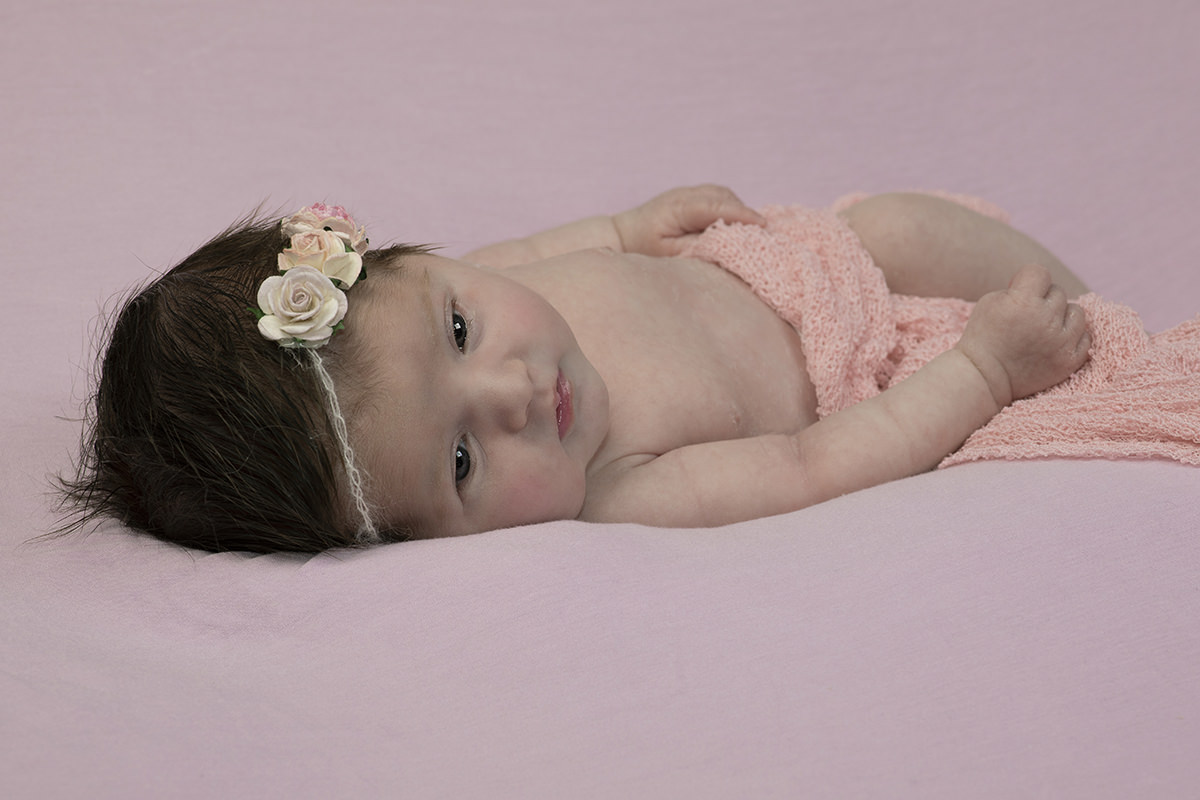 Newborn baby photography portrait taken in my studio in Whitchurch Hampshire