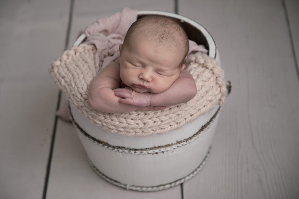 Newborn baby Photograph taken by a photographer from Whitchurch Hampshire with training from Karen Wiltshire's studio Poole Dorset.